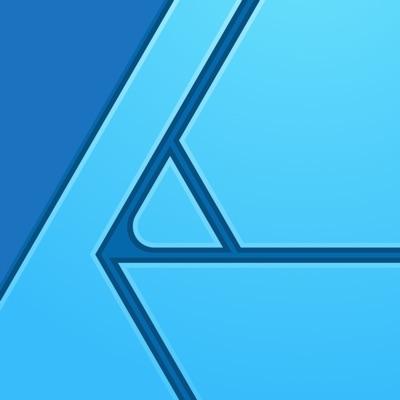 affinity designer logo blue
