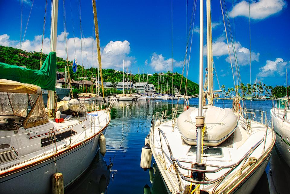 boats at rodney bay960