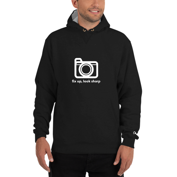 fix uplook sharp camera 2 mockup Front Mens 1 Black 600
