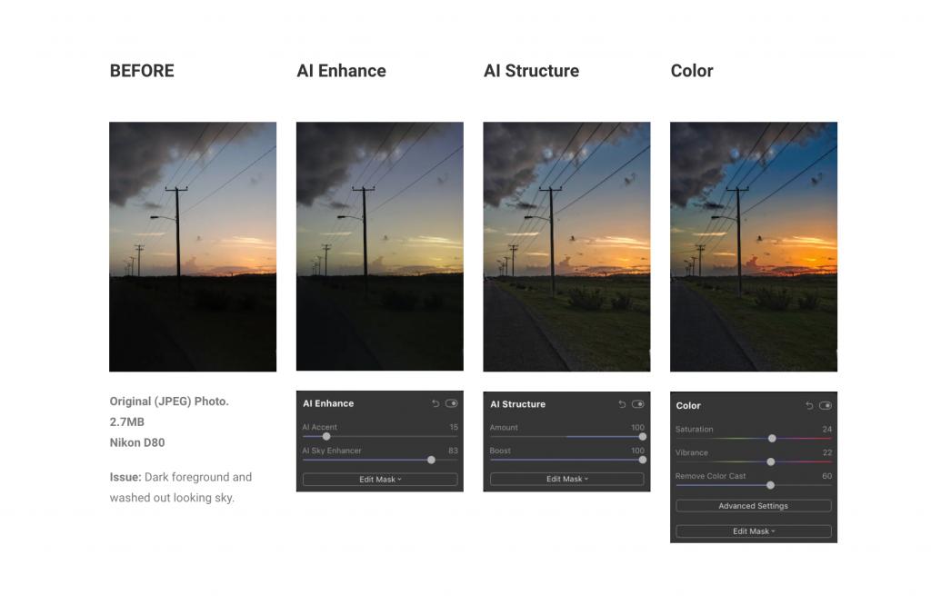 incremental luminar edits