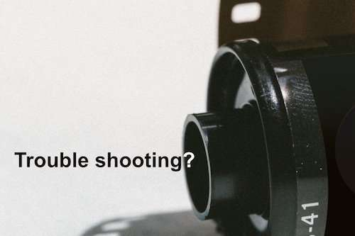 trouble shooting photography film