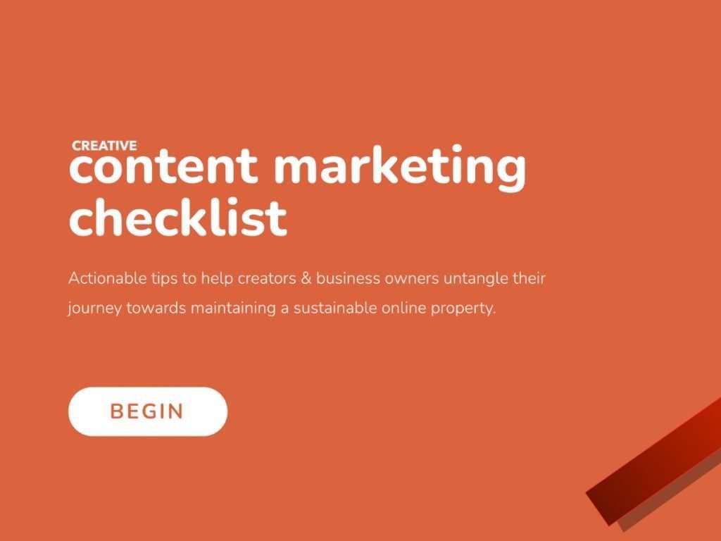 creative content marketicking checklist