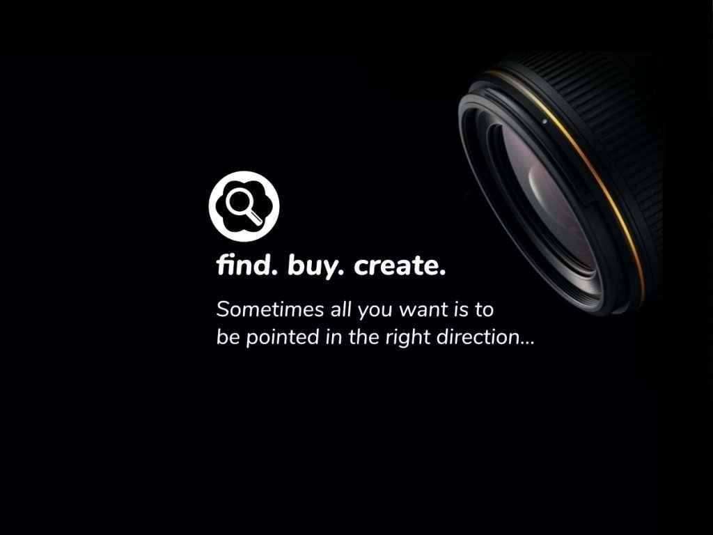 find-buy-create-gold-lens-dmfinder-ad