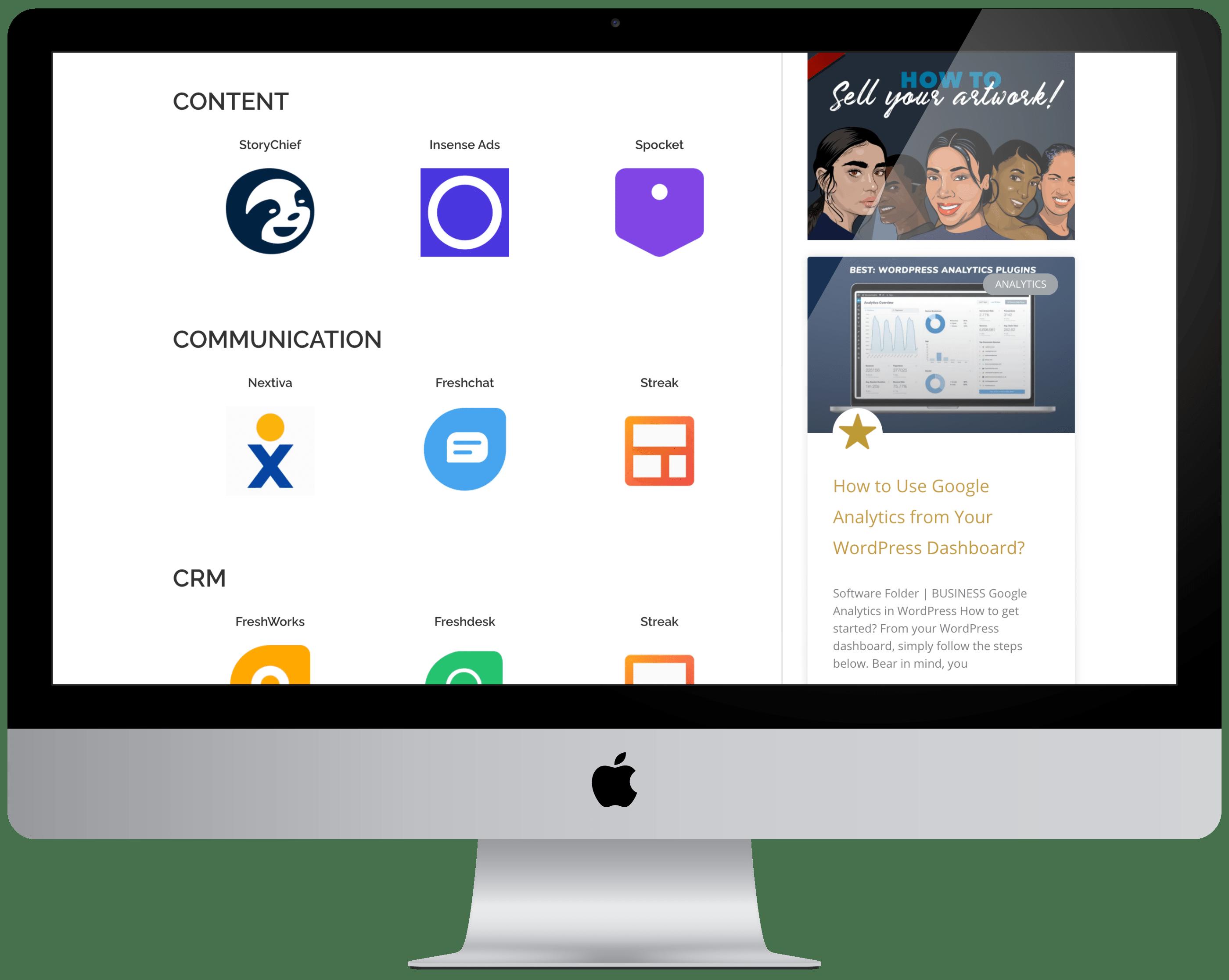 SaaS Directory iMac