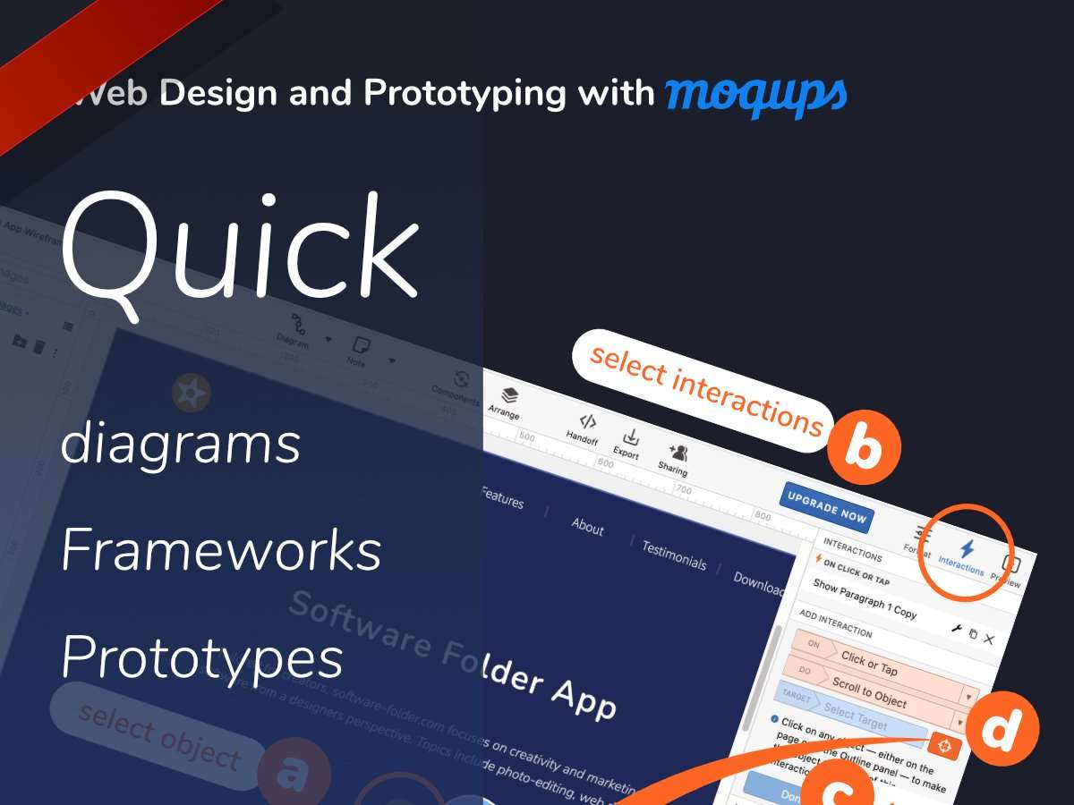 Web Design and Prototyping with moqups.