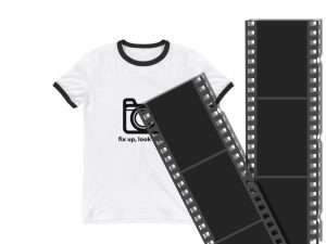 HP Black White Social Card White Tee 35mmFilm